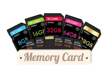 SD and Micro SD memory card Stock Photos