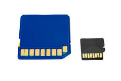 SD and MicroSD cards Royalty Free Stock Images