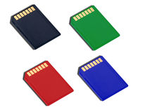 SD type memory cards Royalty Free Stock Images