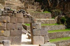 Südamerika, Peru, Ollantaytambo-Inkafestung Lizenzfreies Stockfoto