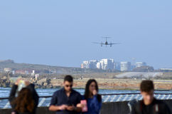 Sde Dov Airport à Tel Aviv - en Israël Images libres de droits