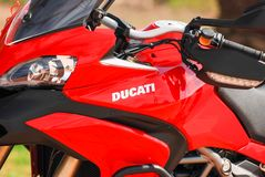 Logo of Ducati Motorcycle royalty free stock photography