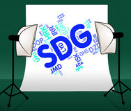 Sdg Currency Shows Exchange Rate And Forex Stock Photos
