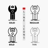 SDK, App, development, kit, programming Icon in Thin, Regular, Bold Line and Glyph Style. Vector illustration