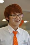 Südkorea, nationale Hauptstadtregion, Seoul, Kellnerin, die an Seoul-Café November 2013 arbeitet Stockfoto