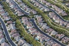Südliche Kalifornien-saubere Vorstadtstraßen von der Luft Stockfotos