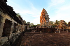Sdok Kok Thom, Khmer temple Royalty Free Stock Images