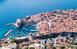 Sdr dubrovnik croatia. Walking Trail from the top of Mount Sdr to Dubrovnik with a great panoramic view stock images