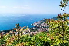 Sdr dubrovnik croatia. Walking Trail from the top of Mount Sdr to Dubrovnik with a great panoramic view stock image