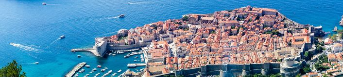 Sdr dubrovnik croatia. Walking Trail from the top of Mount Sdr to Dubrovnik with a great panoramic view royalty free stock photo