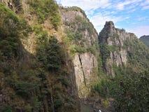 Wencheng Bai Baizhang Waterfall nine royalty free stock images