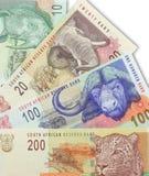 södra afrikansk valuta Arkivfoton