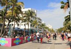 Södra strand Miami för art déco Arkivfoton