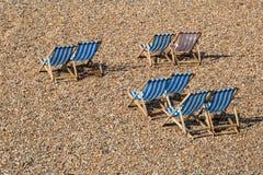 Sdrai su una spiaggia Fotografia Stock