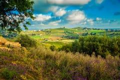 Südwesten Sizilien nahe Agrigent Lizenzfreies Stockfoto