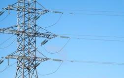Seção central da sustentação da linha eléctrica fotografia de stock