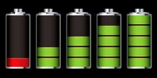 Seção da carga da bateria ilustração royalty free