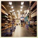 Seção da madeira serrada da loja da melhoria home Fotos de Stock