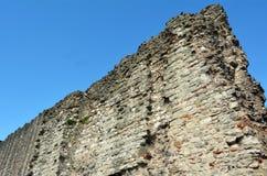 Seção da parede romana, monte Londres da torre, Reino Unido Imagens de Stock