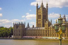 Seção de Ben Clock Tower grande em Inglaterra foto de stock royalty free