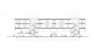 Seção de centro Multifunctional Ilustração do Vetor