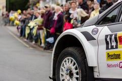 Seção de Ford Fiesta Rally Car fotos de stock royalty free
