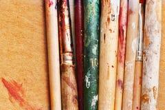 Seção de madeira das ferramentas fotos de stock royalty free