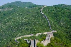 Seção de Mutianyu do Grande Muralha de China foto de stock