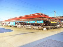 Seção de Santo Tomas Public Market Fish e da carne Fotografia de Stock Royalty Free