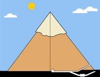 Seção de uma pirâmide real Fotos de Stock Royalty Free
