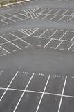 Seção do canto do lote de estacionamento fotografia de stock royalty free
