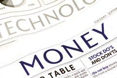 Seção do dinheiro Foto de Stock Royalty Free
