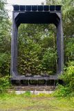 Seção do ferro forjado da ponte original de Britannia Fotografia de Stock