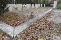 A seção dos veteranos, Bonaventure Cemetery fotos de stock