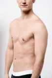 Seção meados de do homem muscular Imagem de Stock