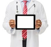 Seção mestra do doutor Advertising Digital Tablet Imagens de Stock Royalty Free
