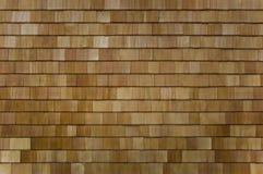 Seção Shingled cedro da parede ou do telhado fotografia de stock