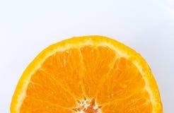 Seção transversal de uma laranja fotografia de stock