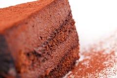 Seção transversal do bolo dos cacaus Fotografia de Stock