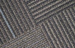 Seção transversal do tapete com linhas diagonais fotografia de stock