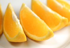 Seções de uma laranja fotos de stock royalty free