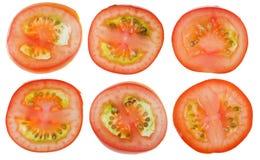 Seções transversais de tomates de cereja pequenos Imagens de Stock Royalty Free