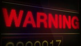 Señal alerta amonestadora almacen de metraje de vídeo