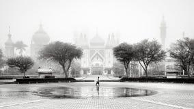 Señal blanco y negro de la arquitectura árabe foto de archivo libre de regalías
