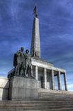 Señal conmemorativa para los soldados caidos de la guerra mundial Fotografía de archivo