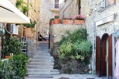 Señal de Acciaroli Foto de archivo libre de regalías