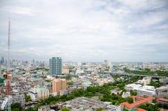 Señal de Bangkok cerca del distrito de Ratchathewi Foto de archivo libre de regalías