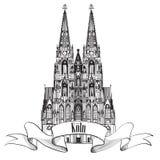 Señal de Colonia Koln. Símbolo de Gemany del viaje libre illustration