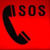 Señal de desolación el SOS Foto de archivo libre de regalías