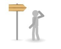 Señal de dirección stock de ilustración